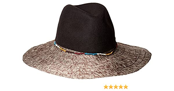 fd6017fcd93 Amazon.com  San Diego Hat Company Women s Pinched Wool Crown Fedora Hat  with Knitted Brim and Cord