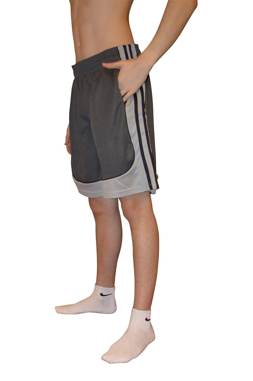 Allpro Men's Shorts Mesh Breathable Comfort Summer 2017 S1253 (2X-Large, Grey)