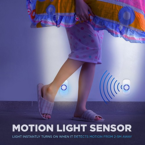 Motion Sensor Night Light, Plug in Motion Detector Led Nightlight Energy Saving Motion Activated Bright Safety Light for Kids and Adults Room, Bedroom, Bathroom, Hallway, Basement and Stairs 4-Pack by GOBULB (Image #4)