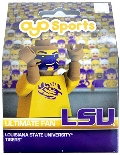OYO NCAA LSU Tigers Ultimate Fan Minifigure, Small, Black by OYO