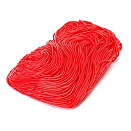 Red Strawberry Licorice Laces (Shoe String) 1LB Bag