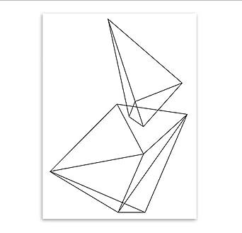 Carteles Minimalismo Abstracto Dibujo Lineal Cartel Pared En ...