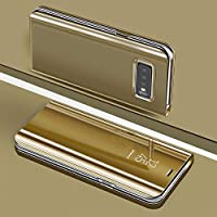 """For Samsung Galaxy S10 / S10E / S10+ Plus Mirror Case, Shinetop Slim Fit Electroplate Plating Smart Translucent View Case Flip Stand PC Hard Cover 360 Full Body Shockproof Protective Skin Cover (Samsung Galaxy S10+ Plus 6.4"""", Rose Gold)"""
