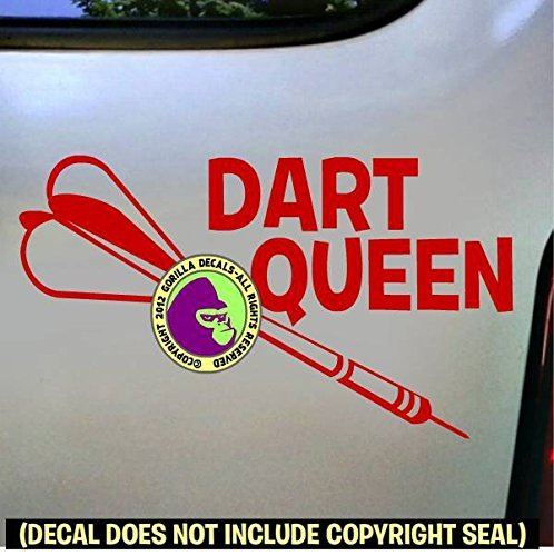 (Darts - DART QUEEN Vinyl Decal Sticker D)