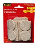 Scotch Self-Stick Floor Care Pads 735ES, Assorted Sizes, 30 pads/pack Beige