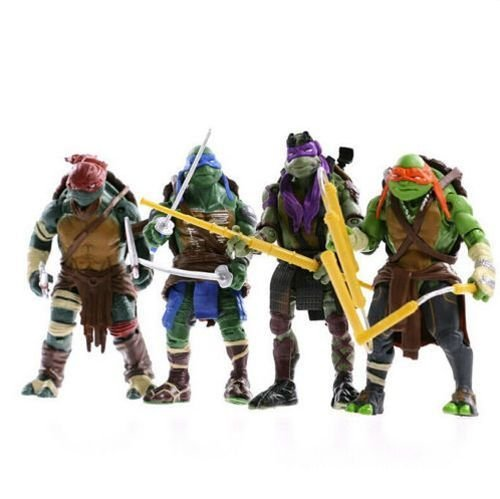 BestNew Teenage Mutant Ninja Turtles Action Figures Turtles Party Supplies Toys for Kids