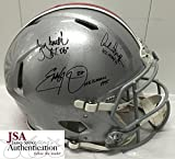 Archie Griffin, Eddie George, Troy Smith Signed Autographed Ohio State Buckeyes Full Size Authentic Proline Football Helmet - Certified - JSA Certified