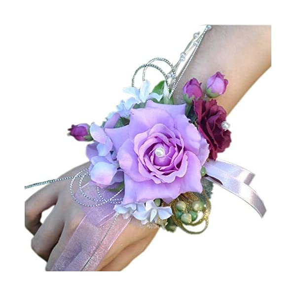 Arlai-Bridal-Wrist-Corsage-Wedding-Party-Artificial-Flower-Bridesmaid-Brooch-Wedding-Bouquet-Decoration-Pack-of-1
