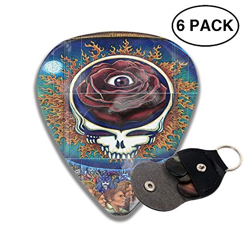 Grateful Dead Steal Your Face 3D Printed Custom Guitar Picks 6pcs Celluloid Bass Celluloid Material Same Pattern on Both Sides 0.46mm/0.71mm/0.96mm -