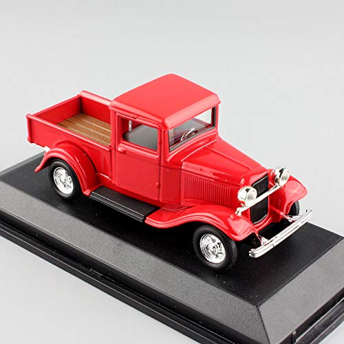 Diecasts & Toy Vehicles - Scale Small Vintage 1934 Ford Pickup Pick up Truck diecast minitruck Metal Modeling Free Replica car Toys for Collector red - by SINAM - 1 PCs