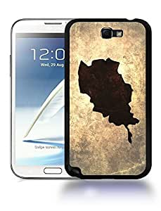 Afghanistan National Vintage Country Landscape Atlas Map Phone Case Cover Designs for Samsung Galaxy Note 2