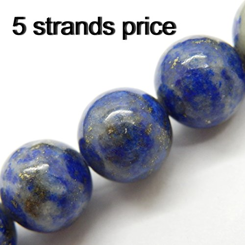 gemstone beads for jewelry making, sold per bag 5 strands inside (Lapis Lazuli, 8mm)