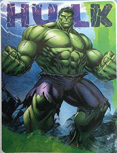 Marvel Avengers Hulk Silk Touch Sherpa Throw Blanket Twin Size 60x80
