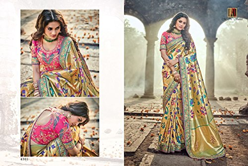 donna Saree partywear indiano abito 2603 latest indiano jari da sposa richlook tradizionale etnico Seta sari Matrimonio qPzt4BII