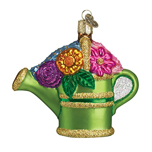 Old World Christmas Ornaments: Watering Can Glass Blown Ornaments for Christmas Tree