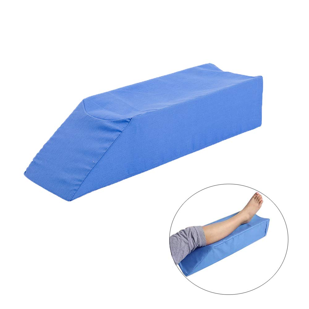 Zelen Leg Elevation Pillow Knee Support Pillows Bed Elevator Wedge for Sleeping Legs Knee Surgery Recovery Orthopedic Positioning Wedge for Legs Knee Feet Ankle Injury Recovery Elevated Foam Cushion