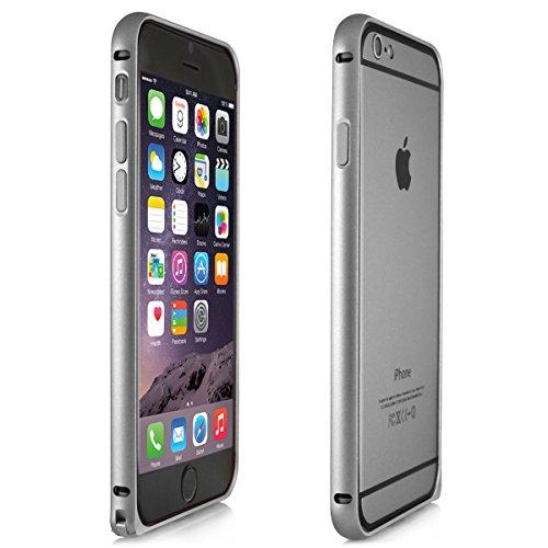 Alienwork Schutzhülle für iPhone 6 Ultra-flach Hülle Case Bumper Aluminium silber AP601-02