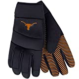 NCAA Texas Longhorns Work Gloves, Utility Rubber Grip, Adj Strap