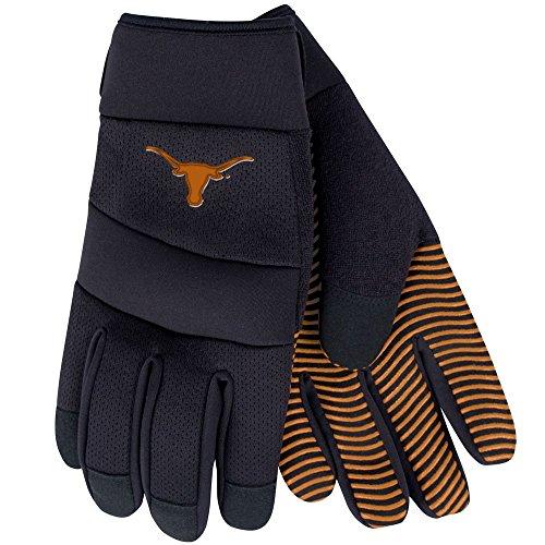 NCAA Texas Longhorns Work Gloves, Utility Rubber Grip, Adj Strap by NCAA