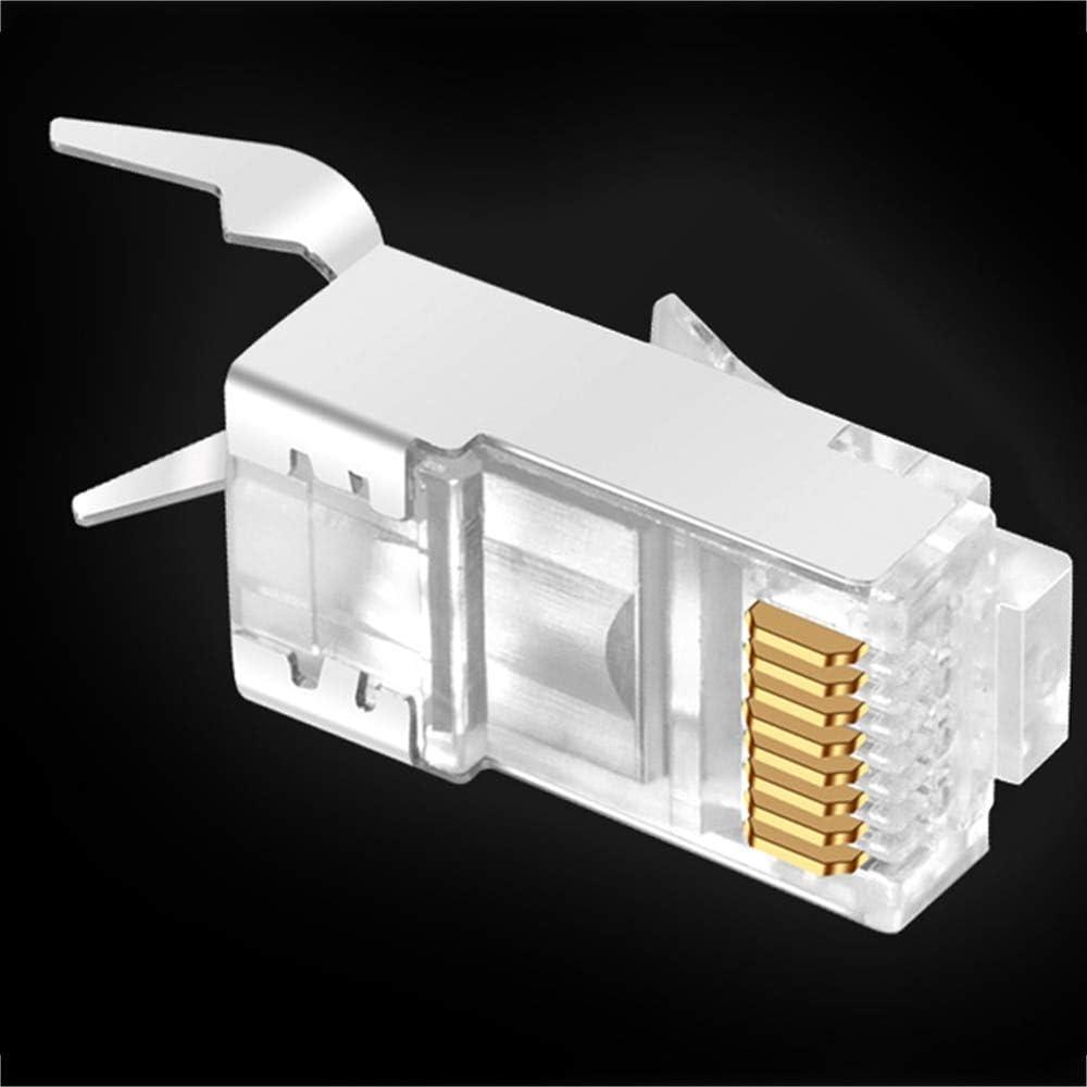 Cable Length: 100pcs Computer Cables RJ45 Connector Network Cable Connector 10//50//100pcs Cat6a Cat7 RJ45 Plug Shielded FTP 8P8C Network Crimp Connectors