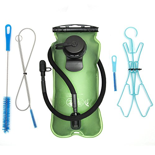 Cheap Ankoow 3L/100Oz Hydration Bladder (+ Cleaning Kit) Thick PEVA Material Military Class Quality Wide-Opening Tasteless BPA Free Antimicrobial Protection