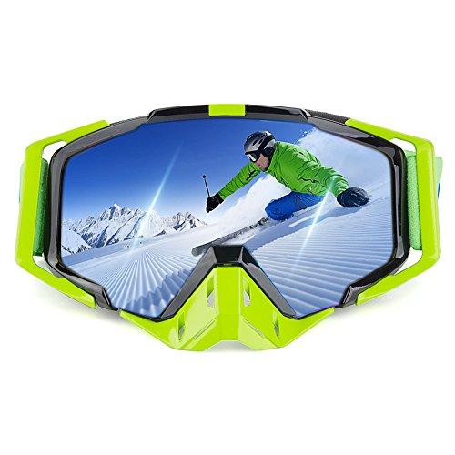 Motorcycle Goggles, Ewin BMX Bike Motocross Off-Road Safety Eye Protection Anti-UV Anti-Scratch Dustproof for Men Women Ski Snow Snowboard Snowmobile(White)