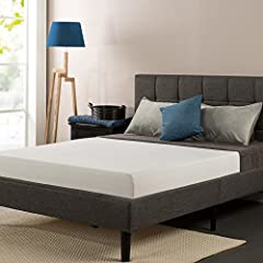 The Next Generation Bed Frame - The SmartBase Mattress Foundation by Zinus. The SmartBase eliminates the need for a box spring as your memory foam, spring or latex mattress should be placed directly on the SmartBase. Uniquely designed for opt...
