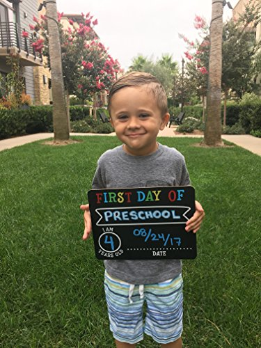 Pearhead First and Last Day of School Photo Sharing Chalkboard Signs; The Perfect Back to School Chalkboard Sign to Commemorate The First Day of School, Set of 2 by Pearhead (Image #4)