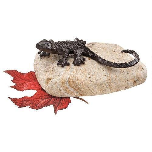 Sun Bathing Lizard Statue Design Iron Lizard Garden Lizard
