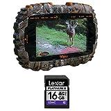 Wild Game Innovations VU50 Trail Pad Handheld Card Viewer + Compatible Lexar Platinum II 16 GB High Speed Class 10 SD Card Bundle