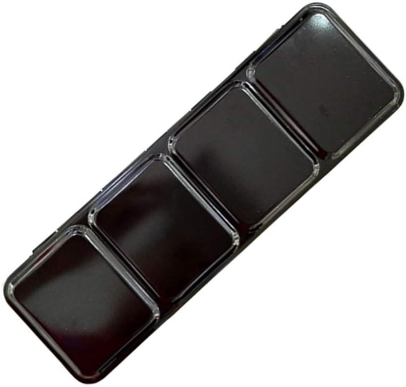 HEALLILY caja de pintura de paletas de latas de acuarela vacía 24 colores paleta de acuarela caja de almacenamiento de pigmentos de hierro para manualidades de bricolaje