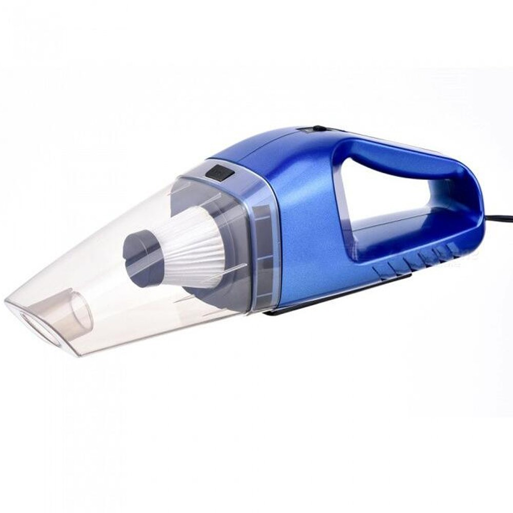 120W Car Vacuum Cleaner Handheld Portable 12V Powerful Auto Cleaning Tool - Blue