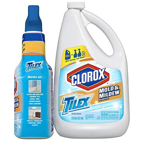 Tilex Mold & Mildew Remover Bonus Pack 32 Oz Spray Bottle and 64 Oz Refill ()
