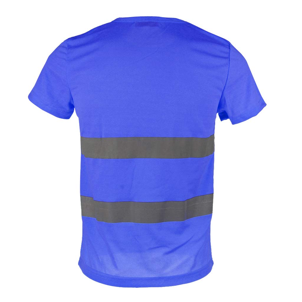 Sharplace Maglietta Riflettente Di Sicurezza Manica Corta Ad Alta Visibilit/à Rapida Asciutta XL giallo