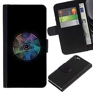 LECELL--Cuero de la tarjeta la carpeta del tirón Smartphone Slots Protección Holder For Apple Iphone 6 -- Atrapasueños --