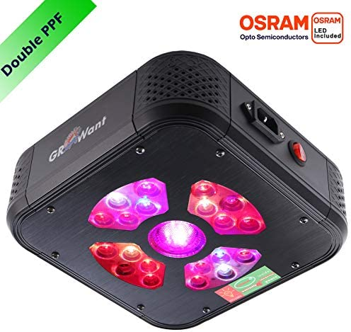 GROWant LED Grow Lights for Indoor Plants Veg and Flower, 80 Watts Full Spectrum with UV and IR for 2 x2 Tent, Durable OSRAM LEDs, Aluminum Housing with Daisy Chain Size-Color Optional