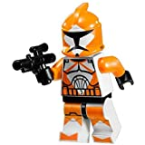 LEGO Star Wars Minifigure - Orange Bomb Squad Trooper with Blaster Gun (7913)