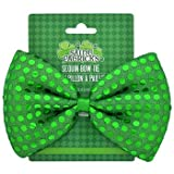 St. Patrick's Day Set: Green Derby Hat with Green Sequined Bow Tie