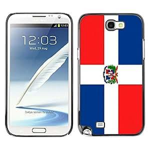 - Flag - - Monedero pared Design Premium cuero del tir¨®n magn¨¦tico delgado del caso de la cubierta pata de ca FOR Samsung Galaxy N7100 N7102 N7108 Funny House