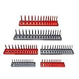 "ABN | Socket Organizer Tray 6-Pack Socket Storage – 1/8"" to 1-1/4"" Standard & 4mm to 27mm Metric Socket Organizer Tray"