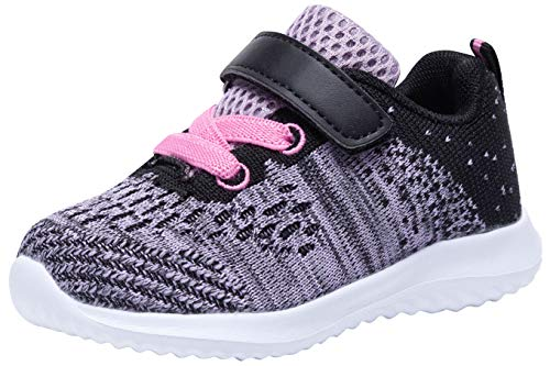 COODO Toddler/Little Kid Boys Girls Shoes Running Sports Sneakers (11 Little Kid,Lavender) ()