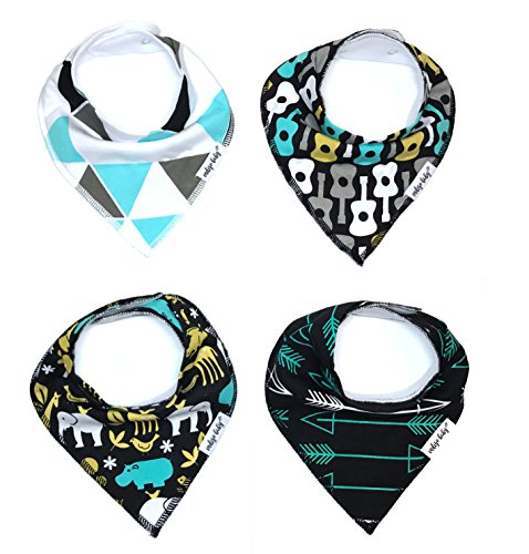 Baby Bandana Drool Bibs for Drooling and Teething 4 Pack Perfect Baby Shower Baby Registry Gift Set For Boys