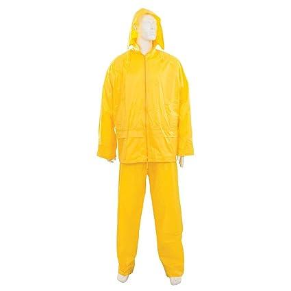 Silverline Seguridad ropa traje amarillo 2 piezas Protección ...