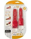 KitchenArt Red Adjust-A-Tablespoon and Adjust-A-Teaspoon Set