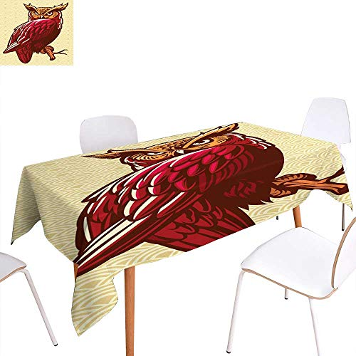 longbuyer Dinning Tabletop Decoration owl Stand on The Tree Branch Rectangle/Oblong W 60