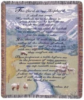 Lord is my Shepherd 23rd Psalm Tapestry