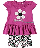 GUESS Kids Girls Baby Girl Applique Tee with Biker Short , VIOLET (24M) image
