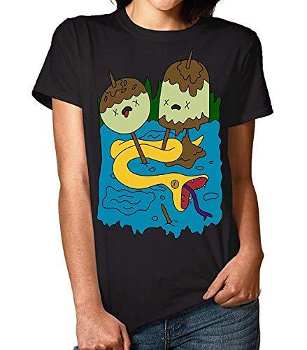 Rock Art T-shirt - Topfashion Womens Princess Bubblegum Art T-Shirt, Adventure Time Rock Inspired T Shirt Black