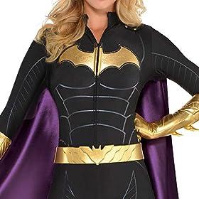 SUIT YOURSELF Batman Batgirl Jumpsuit Costume for Women, Includes a Bat Mask, a Cape, a Belt, and Gloves