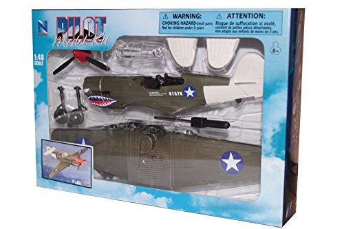 New Ray, WW II, 1:48 scale, Curtiss P-40 Warhawk, plastic (Curtiss P-40 Warhawk)